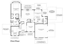 Georgian Floor Plan by Toll Brothers At Oak Creek The Hampton Home Design