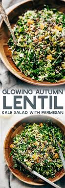 autumn lentil kale salad with parmesan recipe spice jar