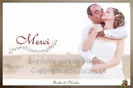 faire part de remerciement mariage carte de remerciements pour mariage avec photo au format carte postale