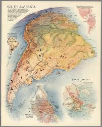 south america in globular perspective david rumsey historical