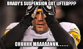 Roethlisberger Memes - ben roethlisberger reacts to tom brady s un suspension imgflip