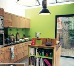cuisine vert anis un mur coloré dans la cuisine vert anis bois cuisine