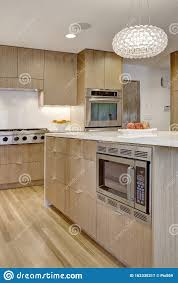 modern kitchen with white oak cabinets quarter saw white oak residential kitchen cabinets stock