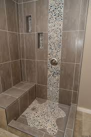best 25 glass tile shower ideas on pinterest glass tile spruce up your shower by adding pebble tile accents click the pin to get started