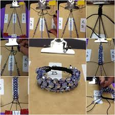 bracelet shamballa diy images How to diy three strand crystal shamballa style bracelet jpg