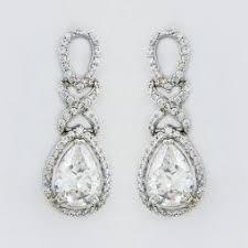 tear drop earrings bridal teardrop earrings cz bridal earrings teardrop