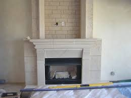 faux limestone fireplace how gates installed on limestone