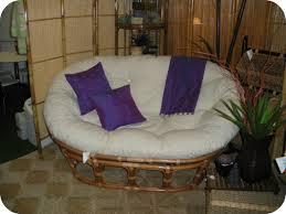 Papasan Patio Chair Furniture Double Papasan Chair With White Solid Fabric Cushion Ideas