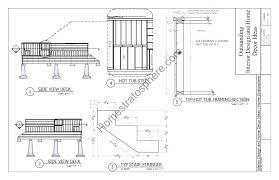 tub deck design plan free pdf download