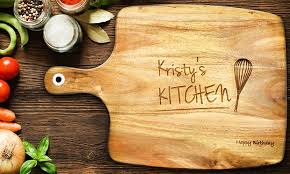 personalised cutting boards personalised wood chopping board groupon goods