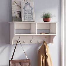 laurel foundry modern farmhouse manzanola wood wall mounted coat