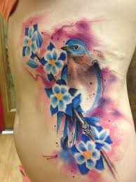 brand new bluebird tattoo done by johnny mac at tinta cantina