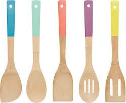 amazon com now designs bamboo utensils multi color set of 5