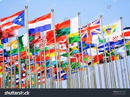 Commonwealth Flags Uk France Switzerland National Flags Flying Stock Photo 98216306