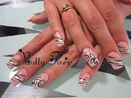 deco ongle en gel noir et blanc tendresse féerique jusqu u0027au bout des ongles