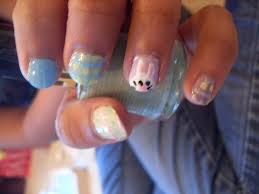 the who cried glitter easter spring nail design