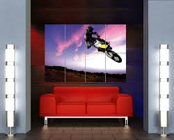 freestyle motocross movies amazon com motocross dirt bike stunt giant poster art print x3205