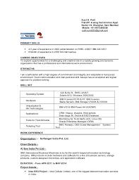 Sample Resume For Experienced Linux System Administrator by Sample Resume For Experienced Linux System Administrator