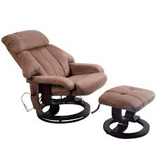 leisure heated massage chair with ottoman electric massaging
