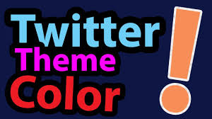 twitter blue color how to change twitter theme color in urdu youtube
