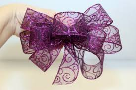 a wire edged ribbon bow thriftyfun