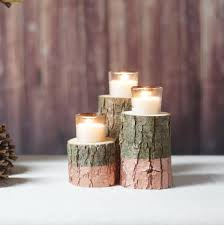 rose gold dipped candle holder wood candle holder rustic home