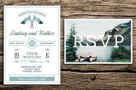 vintage lake wedding invitation u0026 vintage postcard rsvp