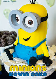 giant kevin minion cake video tutorial ashlee marie