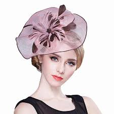 tea party fascinators fashion women feather cocktail fascinators flax pillbox feather