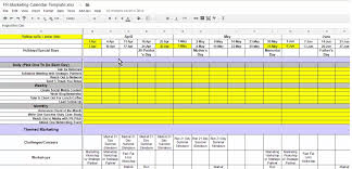 marketing calendar checklist fitness revolution