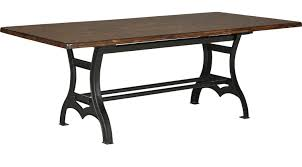 industrial patio furniture industrial court mango rectangle table rustic