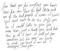 volunteer receives an incredible thank you note casa of travis
