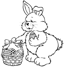 easter rabbit coloring