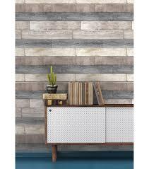wallpops nuwallpaper reclaimed plank wood peel u0026 stick wallpaper