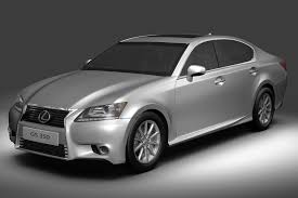 lexus gs 350 models lexus 3d models turbosquid com
