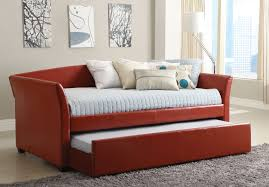 Twin Bed With Pull Out Bed Faux Leather Daybed Cm1956bk U2013 Furniture Mattress Los Angeles And