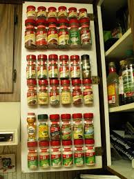 Cabinet Door Der Spice Rack On The Inside Of A Kitchen Cabinet Door I Did This In