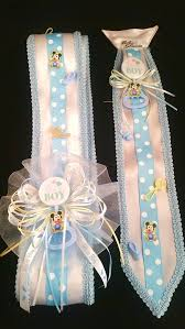 baby shower sash blue baby mickey mouse baby shower sash tie set
