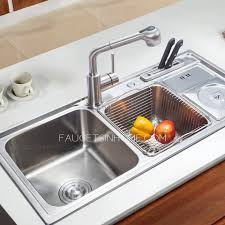 Stainless Steel Multifunctional Double Sinks Kitchen Sinks - Double sink for kitchen