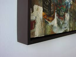picture frames for canvas paintings heavy duty canvas floater frame in a deep gany stain