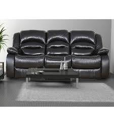 divan canapé canape 3 places noir achat vente canapé sofa divan