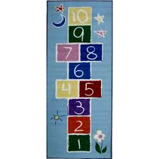 Walmart Kids Rugs by La Rug Fun Time Primary Hopscotch Multi Colored 30 In X 78 In