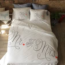 his and hers bed set wedding duvet cover set bedding mr and mrs gift for