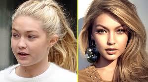 victoria s secret models without make up vs with make up