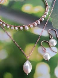 pearl necklace bridal jewelry images One world designs bridal accessoriesimported productsbridal pearl