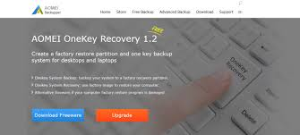 aomei onekey recovery create your own recovery partition for