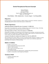 Resume Sample Gym Receptionist by Objective For Receptionist Resume Free Resume Example And