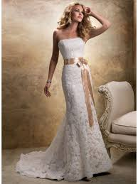 ivory lace wedding dress sheath strapless court ivory lace wedding dresses cheap 801089