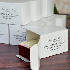 personalized favor boxes favor boxes 5 x 3 cake slice personalized