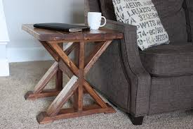 How To Build A Wood End Table by 20 Diy Side Table Plans Rogue Engineer